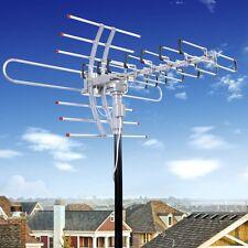 New Hdtv 1080P Amplified Antenna Digital Hd Tv 150 Mile 360 Rotor Uhf/Vhf/Fm Us
