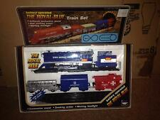 VINTAGE 1986 NEW BRIGHT (BATTERY OPERATED) THE ROYAL BLUE TRAIN SET  <<NIB