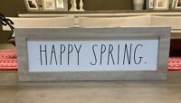 """Rae Dunn - HAPPY SPRING - Standup Wooden Sign - 14""""L x 5""""H - Easter / Spring"""