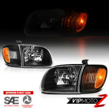 For 00-04 Toyota Tundra Access Standard Cab Black Headlights Corner Left Right