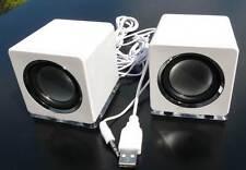 Design mini USB Lautsprecher Boxen für Laptop PC Weiß Loudspeaker speaker sn(DW)