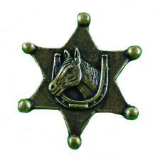 Anstecker Pin Sheriffstern Sheriff Pferd Hufeisen Western Country Wilder Westen