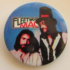 FLEETWOOD MAC LARGE VINTAGE METAL PIN BADGE FROM THE 1970's