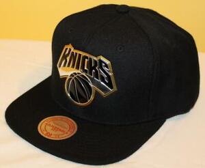 NEW NWT Mitchell & Ness New York Knicks Snapback Hat Cap NBA Triple Gold *H4