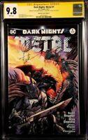 DARK NIGHTS METAL #1 CGC SS 9.8 X2 KIRKHAM CAPULLO BATMAN WHO LAUGHS JOKER COMIC