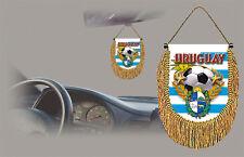 URUGUAY SOCCER FLAG CAR MINI BANNER, PENNANT