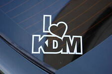 I LOVE KDM Sticker Decal Vinyl JDM Euro Drift Lowered illest Fatlace