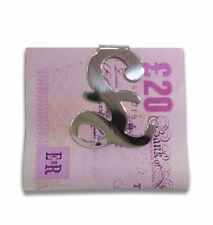 Sterling Silver Money Clip 'British Pound Sign'  GBP £