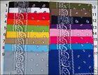Lot de 3 bandana en coton /foulard/headwrap/kopftuch coloris au choix