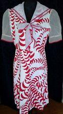 Rockabilly Retro pique dress sailor style organdy collar sleeve BELVERA SYDNEY
