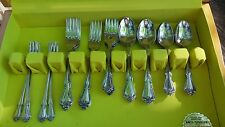 1881 Rogers Oneida Stainless Steel ARBOR ROSE True Rose 46 pc set + box