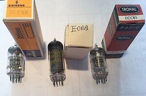 Lot 3 tubes lampe tsf radio amplis - ECC83 Tronal- ECC85 Siemens - ECH81 Erfurt