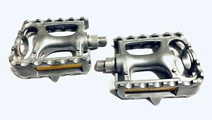 "VP-882 VP MTB Plastic Resin Composite Platform Pedals 9/16"" Toe Clip Compatible"