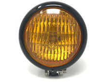 Headlight Yellow Glass for Ducati Cafe Racer Project Metal Vintage Retro- BLACK