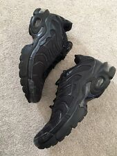 Mens Older Boys Nike Air TN Triple Black Trainers Shoes Size UK 5.5 / EU 38.5
