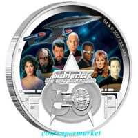 2017 Star Trek: The Next Generation Crew 30th Anniversary 2oz Silver Proof Coin!