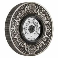 2 $ Dollar Aztec Style mit echtem Thermometer Tuvalu 2 oz Silber 2018