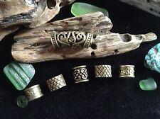 Dreadlock Beads 6 x 6-8mm Hole *BRILLIANT BRONZE MIX PACK* Viking Celtic Mix Uk