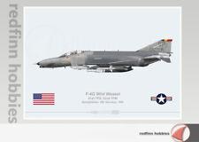 Warhead Illustrated F-4G Wild Weasel 81st TFS, 52nd TFW Aircraft Print