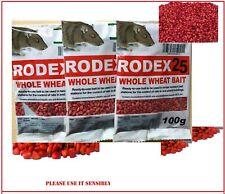 Rat Poison Max Strength professional Rodex25 whole wheat bait