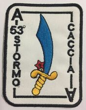 [Patch] 53° STORMO CACCIA cm 8,5 x 6,2 REPLICA toppa ricamata AERONAUTICA -473