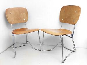 Pair of Armin Wirth Original Aluflex Children's Chairs, 1st Edition