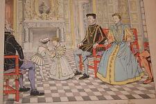 JOB- HENRI IV GRAVURE DESSIN  HERMANT 1894  MARGUERITE DE VALOIS EDUCATION