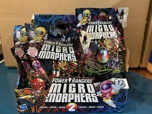 Full Case Of 24 Power Rangers Micro Morphers Series  2 Figures Hasbro Blind Bags