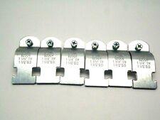 Lot of 6 Sets B-Line B2004 Steel Zinc Strut Straps 1-1/4 Inch TW 1-1/2 IN OD