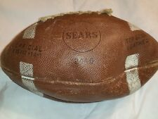 Vintage Leather Sears Football 2446  Original Official Size And Weight