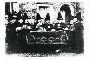 Witch Coven at Tea in Norfolk UK Wicca Halloween Repro Postcard #1