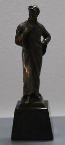 Bronze Figure, Nathan Der Wise, Franz Iffland, Marble Base, Um 1900, Art Nouveau