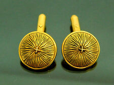 Authentic Vintage Chanel Goldtone Cufflinks Made in France