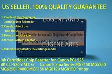 Canon Ink Cartridge Chip Resetter PGI-525 BK  PGI-525  CLI-526 Y M C G