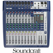 SIGNATURE 12 SOUNDCRAFT ANALOG 12 INPUT MIXER WITH EFFECTS
