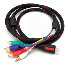 1080P HDMI Gold Plated Male HDMI To 5 RCA AV Component Audio Video Cable