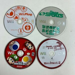 Lot Of 4 Nintendo Wii Video Games Untested Disc Only Scratched Discs No Cracks