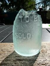 "Genuine Light Aqua RI Beach Glass ""TO BE SOLD"" Surf-Tumbled Providence River"