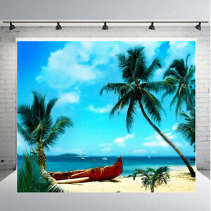 Beach Coconut Tree Summer Photography Backdrop Photo Studio Background Props