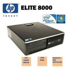FAST HP ELITE 8000 SFF 4GB 250GB CHEAP OFFICE DESKTOP COMPUTER PC WINDOWS 7 WiFi