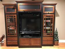 Ethan Allen American Impressions Ebony And Cherry Entertainment Wall Unit