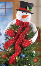 Snowman Christmas Tree Hugger Topper Top of the Tree Decoration