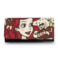 Disney Ariel Wallet The Little Mermaid Tattoo Wallet Loungefly Licensed NEW