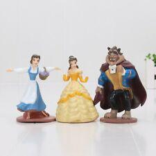 3pcs/set Beauty And The Beast Figure Cake Topper Princess Kid Toy Xmas Gift
