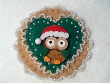(52) Owl decorations, ornaments, christmas decorations,