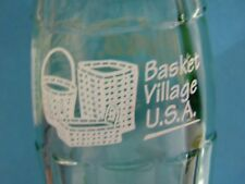 Longaberger Baskets Collectible Coke Bottle Coca-Cola Empty Basket Village Usa