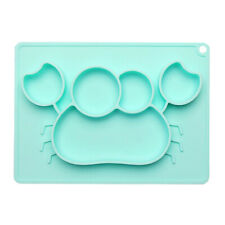 Silicone Mat Baby Kids Bowl Suction Table Food Tray Placemat Plate Dish Bpa Free