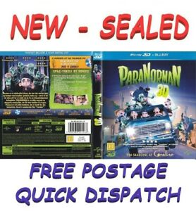 Paranorman 3D 2D Blu Ray -BRAND NEW SEALED- Kids - Animated Film - FREE POSTAGE