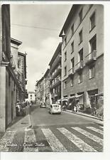 79440  BELLA CARTOLINA DI SONDRIO CORSO ITALIA E FIAT 600 CON PERSONE ANIMATA