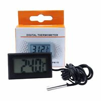 1-10x Digital Thermometer Thermofühler LCD Anzeige -50 +110 Grad 1 m Kabel